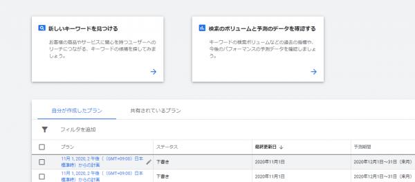 Googleアカウントを作ってサーチコンソールにアクセスした時の画像です。